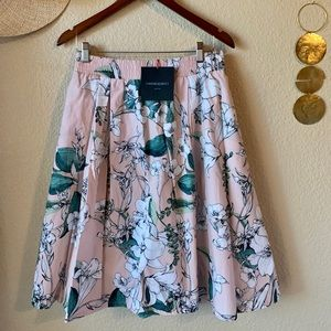 Cynthia Rowely A-Line Floral Skirt L NWT